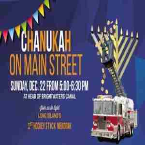 Chanukah on Main Street in Brightwaters on 22 Dec