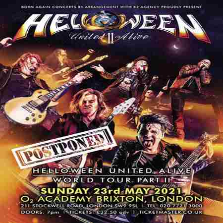 Helloween - United Alive World Tour Part II at O2 Academy Brixton in Greater London on 5 Oct