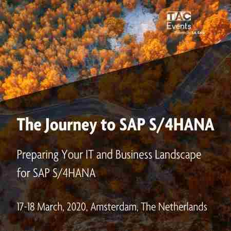 The Journey to SAP S/4HANA in Hoofddorp on 17 Mar