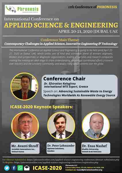 International Conference on Applied Science & Engineering in UAE on 20 Apr