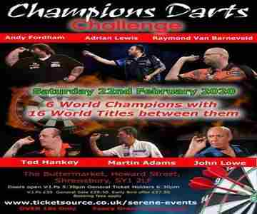 Champion of Champions Darts Challenge in Shropshire on 22 Feb