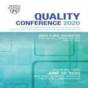 Quality Conference 2020 in Rochester on 10 Jun