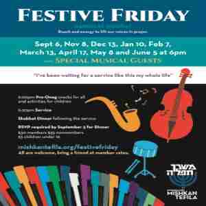 Festive Fridays @Congregation Mishkan Tefila Musical Kabbalat Shabbat in Brookline on 13 Mar