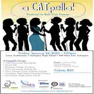 4th Annual a CATpella Festival to Belt Out Cancer in Arlington on 24 Jan