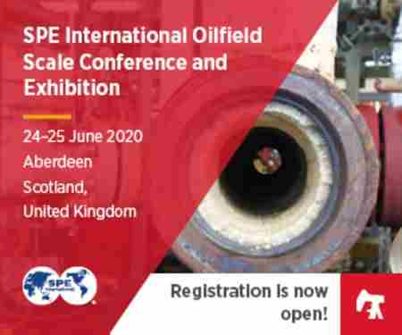 SPE International Oilfield Scale Conference and Exhibition in Aberdeen City on 24 Jun