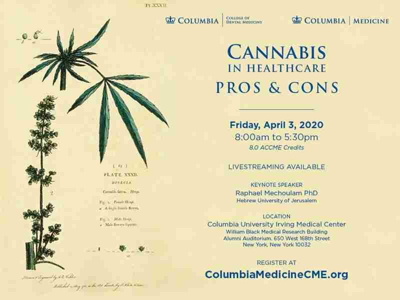 Cannabis in Healthcare: Pros and Cons - Columbia University NY in New York on 3 Apr