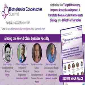 Biomolecular Condensates Summit in Boston on 21 Apr