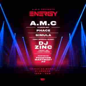 A.M.C presents Energy in Greater London on 20 Mar
