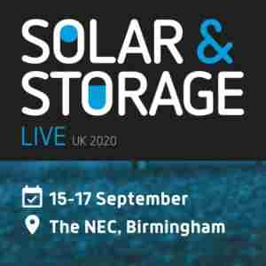 Solar & Storage Live 2020 in Birmingham on 15 Sep