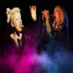 Toyah and Hazel O'Connor in Southend-on-Sea on 19 Apr