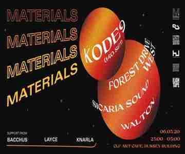 MATERIALS: Kode9 (140 Set) in Greater London on 6 Mar