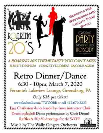 Roaring 20's Retro Dinner/Dance in Greensburg on 7 Mar