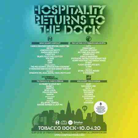 Hospitality Returns To The Dock in Greater London on 10 Apr