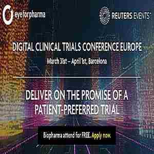 The Digital Clinical Trials Conference Europe in Barcelona on 31 Mar