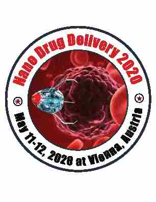 14th Edition of International Conference on Nanomedicine and Advanced Drug Delivery in Vienna on 11 May