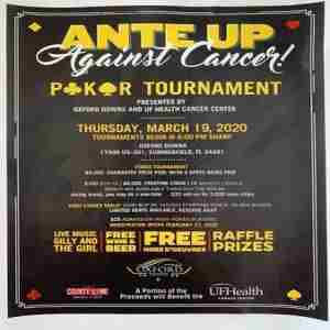 ANTE UP AGAINST CANCER FOR UF CANCER CENTER in Summerfield on 19 Mar