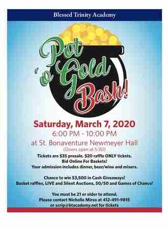 Pot O'Gold Bash in Glenshaw on 7 Mar