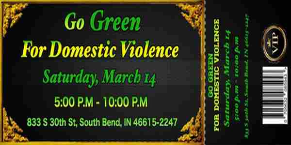 Go Green for Domestic Violence in South Bend on 14 Mar
