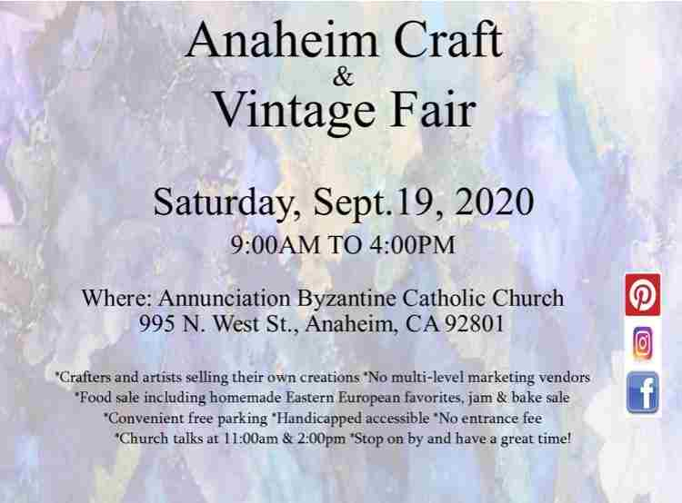Anaheim Craft & Vintage Fair in Anaheim on 19 Sep