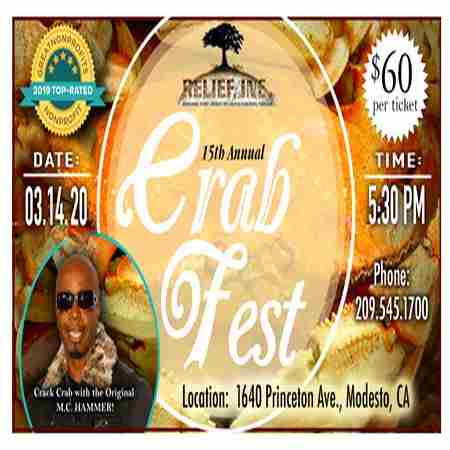 Relief, Inc. 15th Annual CrabFest in Modesto  CA on 14 Mar