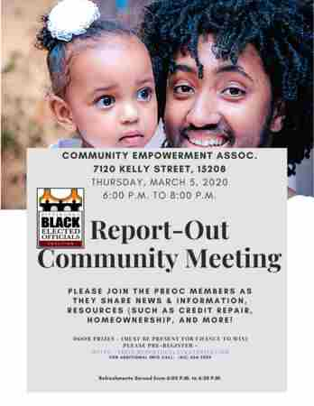The Pittsburgh Black Elected Officials Present: It's Your Community Meeting in Pittsburgh on 5 Mar