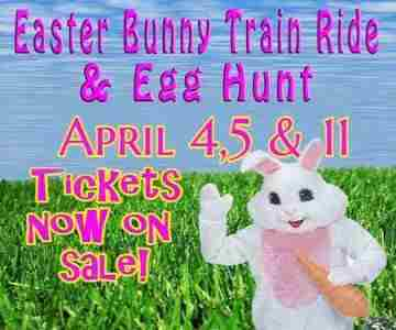 The Easter Bunny Train Ride & Easter Egg Hunt in Phillipsburg on 4 Apr