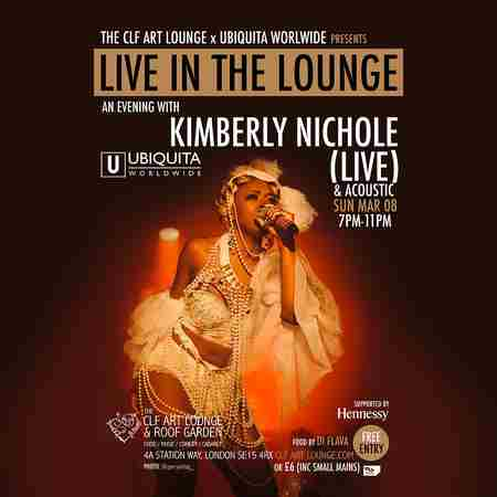 Kimberly Nichole - Live in the Lounge - Sunday 8th March - Free in Greater London on 8 Mar