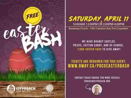 FREE Easter Bash - SAT APR 11, 1932 CAMERON AVE, PORT COQUITLAM in Port Coquitlam on 11 Apr