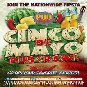 5th Annual Cinco de Mayo Pub Crawl Philadelphia - May 2020 in Philadelphia on 2 May