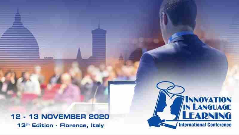 Innovation in Language Learning International Conference - Virtual Edition in Florence on 12 Nov