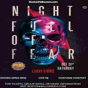 "Lucky Strike Club ""Night Full of Fear"" Halloween Party - October 31, 2020 in Boston on 31 Oct"