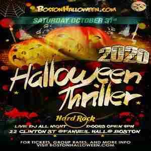 Saturday October 2020 Boston Halloween 6th Annual Hard Rock Boston Halloween Thriller Party   October 31