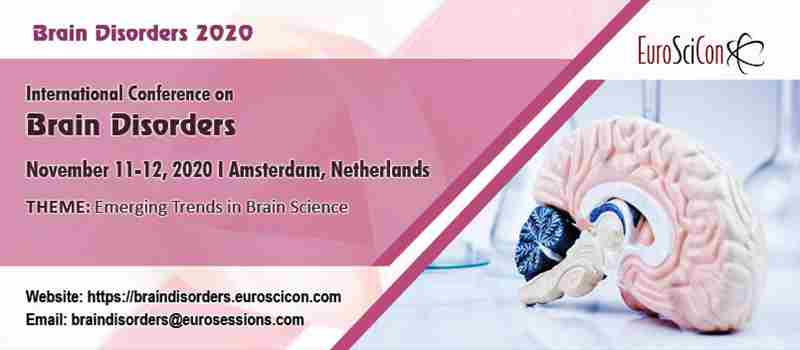 International Conference on Brain Disorders in Amsterdam on Wednesday, November 11, 2020