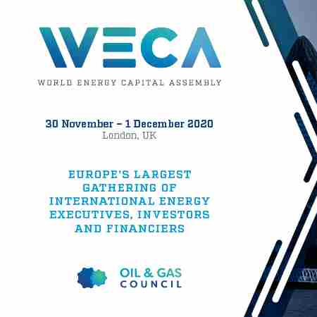 World Energy Capital Assembly in England on 30 Nov