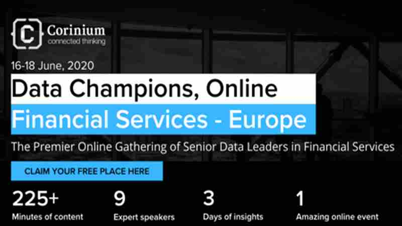 Data Champions, Online - Financial Services - Europe in London on 16 Jun