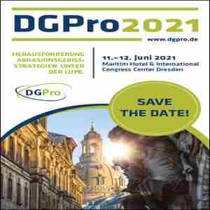 70th annual conference of the DGPro in Dresden on 10 Jun