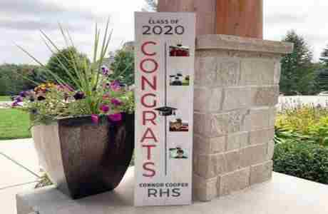Pre-order Board and Brush Class of 2020 wood signs in Chanhassen on 30 May