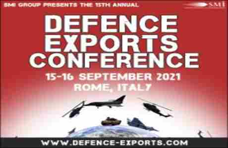 Defence Exports 2021 in Rome on 15 Sep