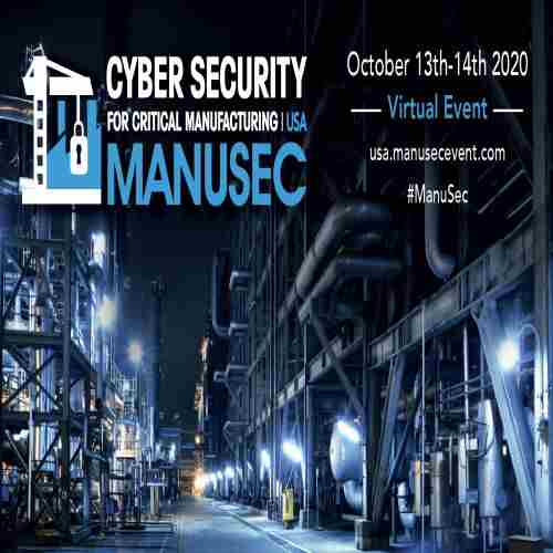 ManuSec USA: Manufacturing Security Summit, Chicago, October 2020 in Chicago on 13 Oct