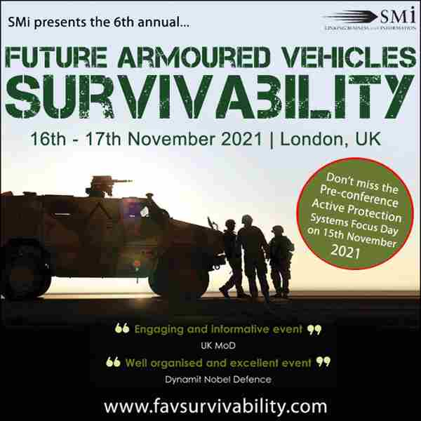 Future Armoured Vehicles Survivability 2020 in London on 9 Nov