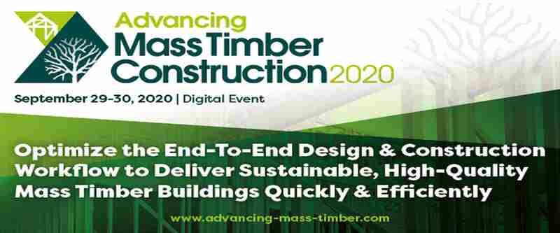 Advancing Mass Timber Construction 2020 | Digital Conference in kansas on 29 Sep