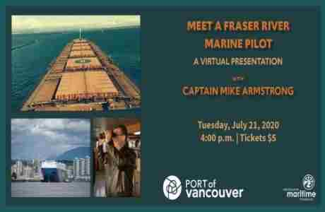 Meet a Fraser River Marine Pilot in Vancouver on 21 Jul