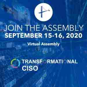 Transformational CISO - September 2020 in Dearing on 15 Sep