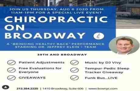 CHIROPRACTIC ON BROADWAY in New York on 6 Aug