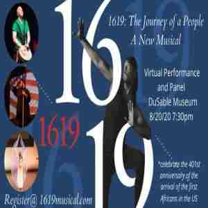 1619: The Journey of a People Virtual Performance and Panel in Illinois on 20 Aug
