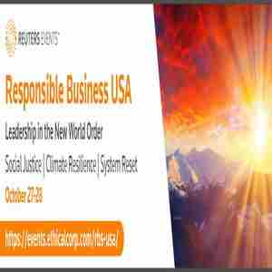 Responsible Business USA 2020 in New York on 27 Oct