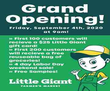 Little Giant Farmer's Market Riverdale Grand Opening in Riverdale on 4 Sep