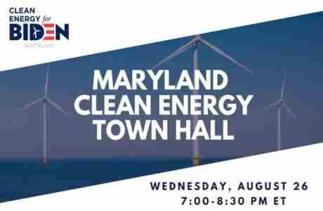 Maryland Clean Energy Town Hall in Easton on Wednesday, August 26, 2020