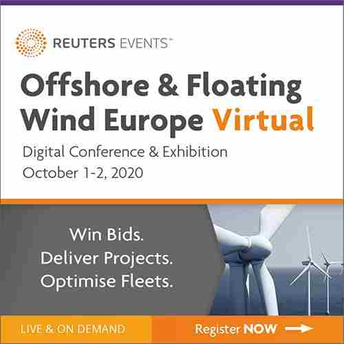 Offshore and Floating Wind Europe 2020 in London on 1 Oct
