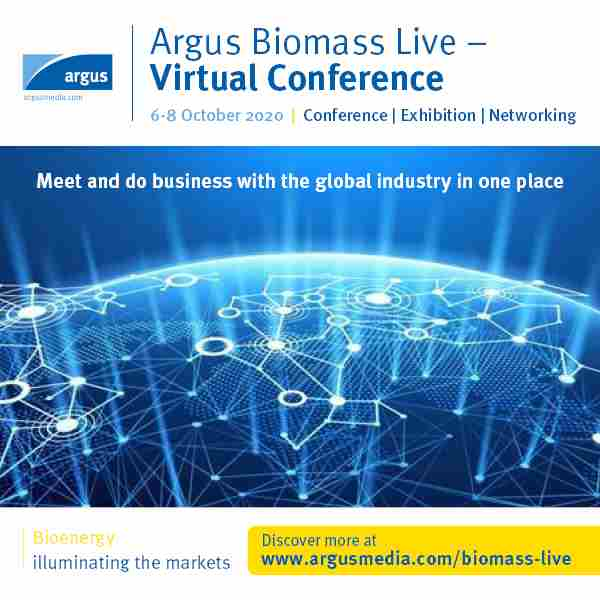 Argus Biomass Live - Virtual Conference 2020 | Conference | Exhibition | Networking Event in Moffat on 6 Oct